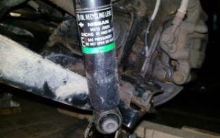 Задние амортизаторы Nissan X-Trail: описание, причины износа и замена